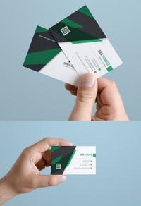 精美绿色公司名片