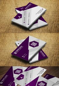 精美紫色名片